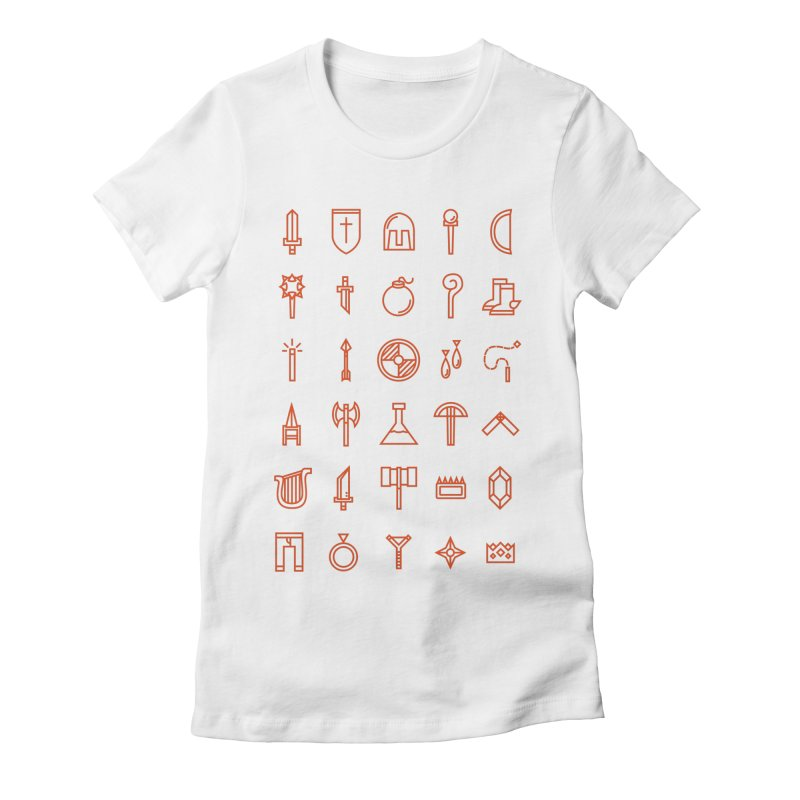 Inventory Women's Fitted T-Shirt by Shop TerryMakesStuff