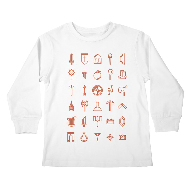 Inventory Kids Longsleeve T-Shirt by Shop TerryMakesStuff