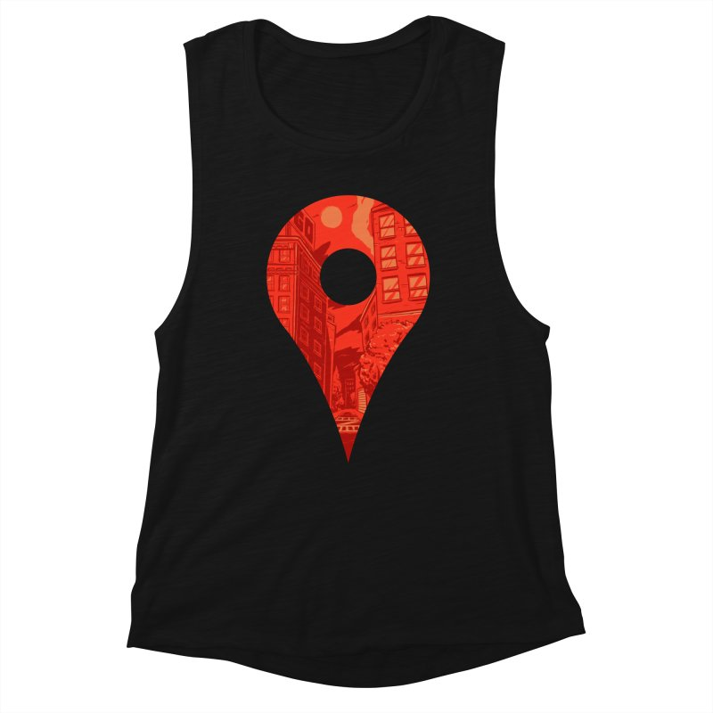 Destination Women's Muscle Tank by Shop TerryMakesStuff