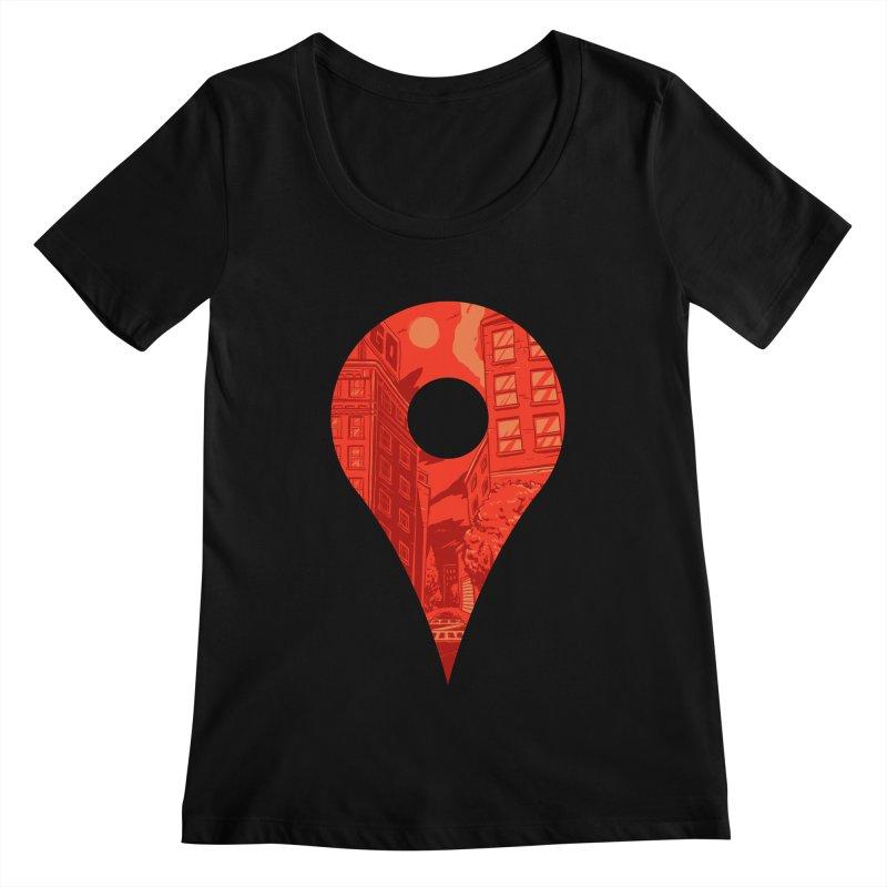 Destination Women's Scoopneck by Shop TerryMakesStuff
