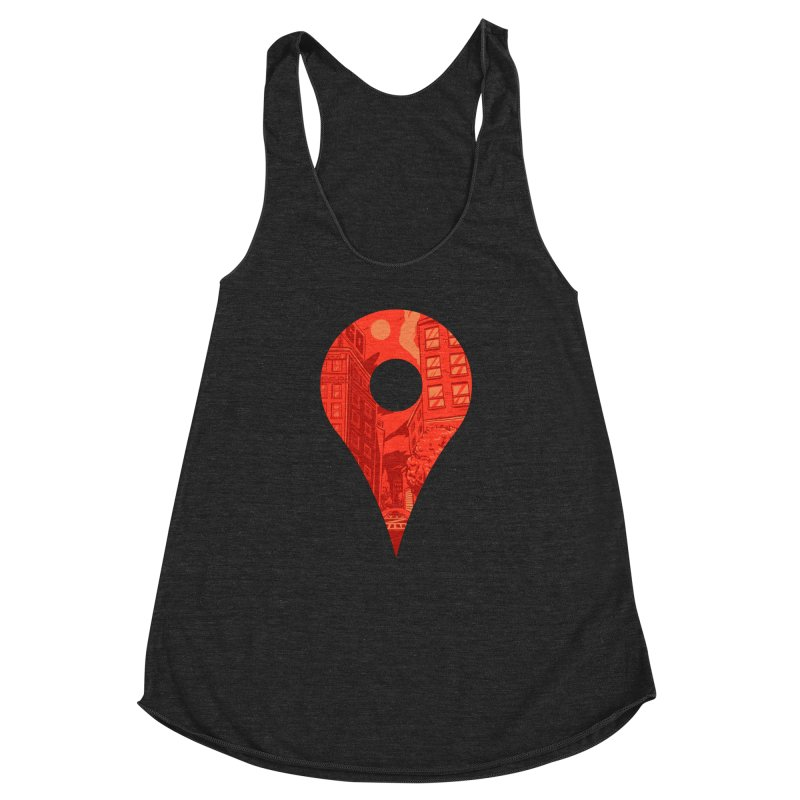 Destination Women's Racerback Triblend Tank by Shop TerryMakesStuff