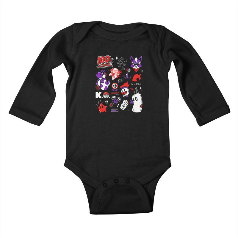 Smash-Up Kids Baby Longsleeve Bodysuit by Shop TerryMakesStuff