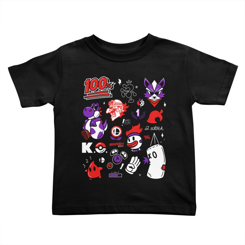 Smash-Up Kids Toddler T-Shirt by Shop TerryMakesStuff