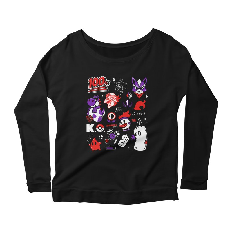 Smash-Up Women's Scoop Neck Longsleeve T-Shirt by Shop TerryMakesStuff