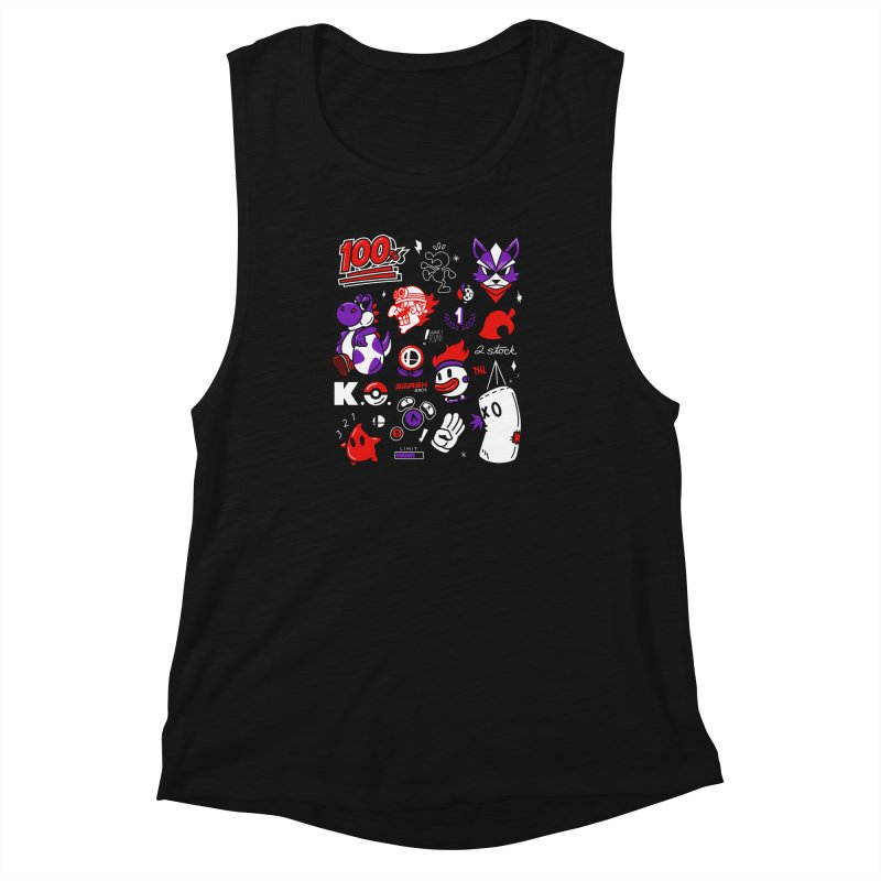 Smash-Up Women's Muscle Tank by Shop TerryMakesStuff