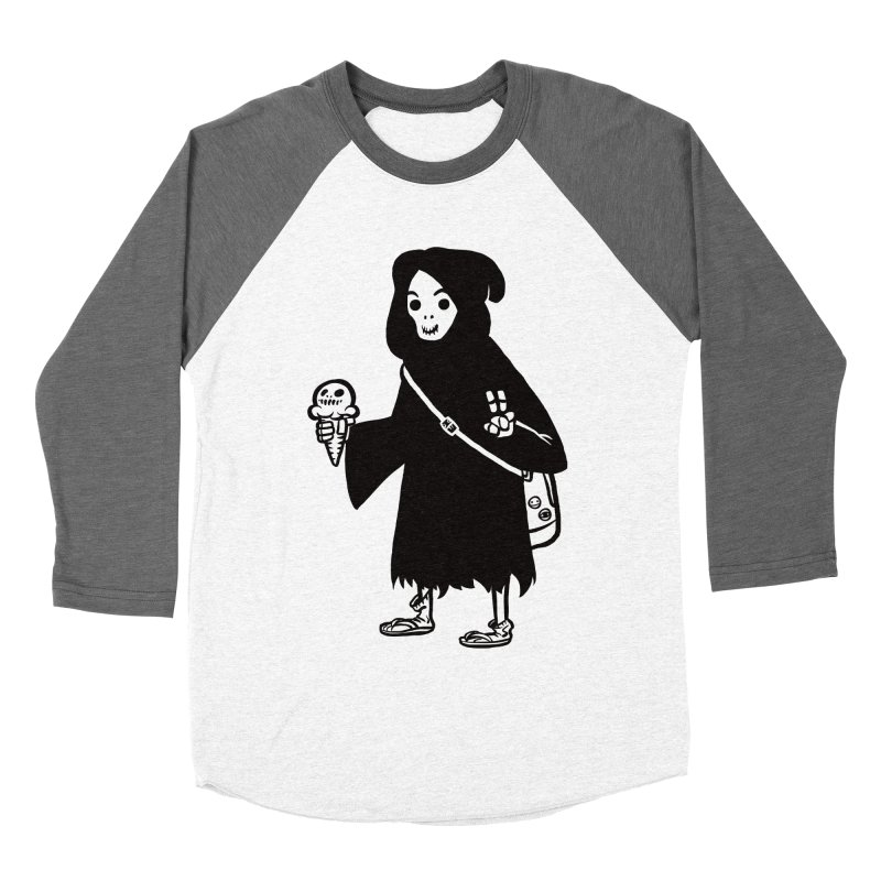Chill Reaper Women's Baseball Triblend Longsleeve T-Shirt by Shop TerryMakesStuff