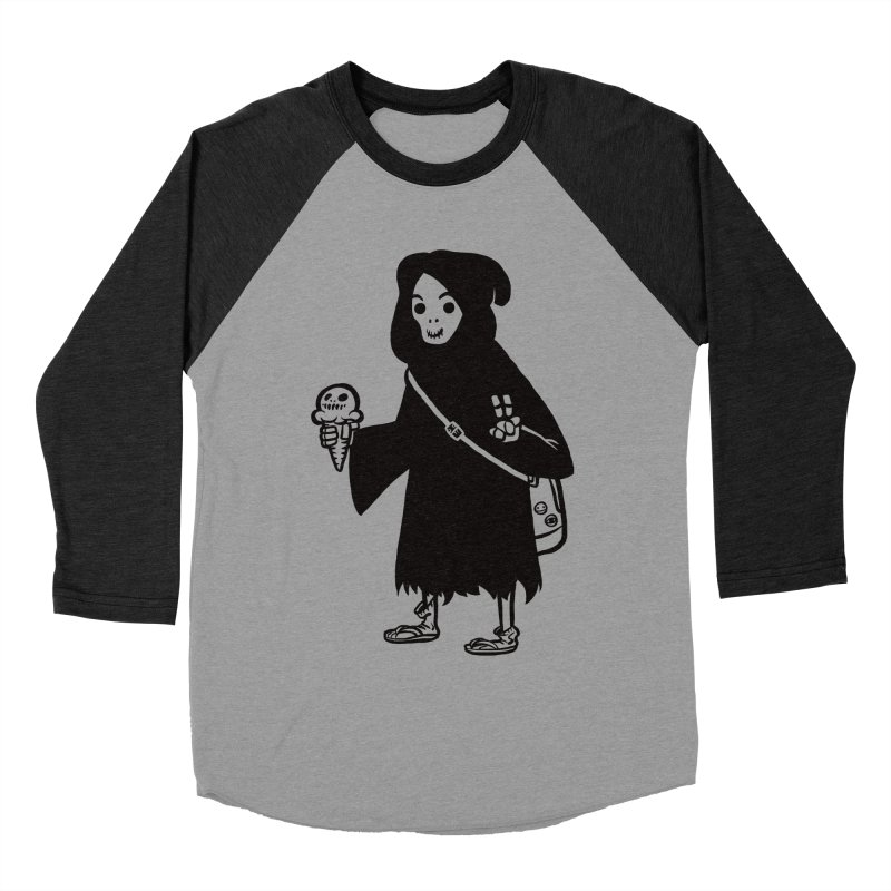 Chill Reaper Men's Baseball Triblend Longsleeve T-Shirt by Shop TerryMakesStuff