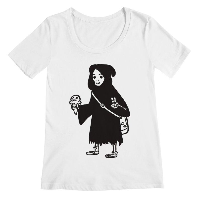 Chill Reaper Women's Regular Scoop Neck by Shop TerryMakesStuff