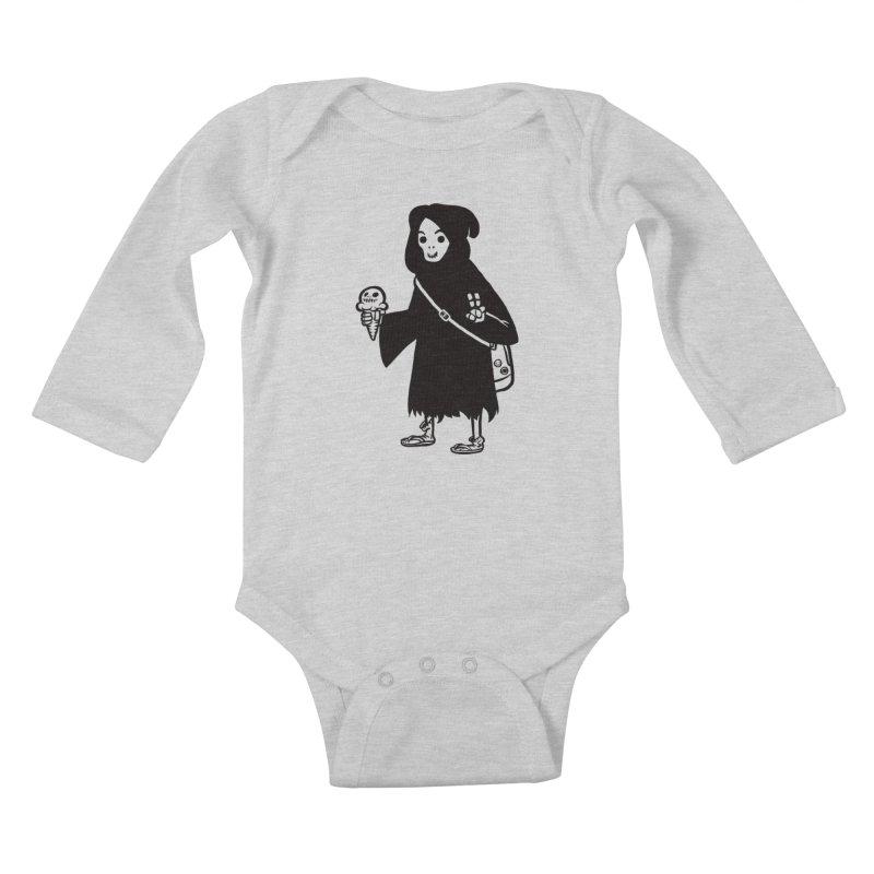 Chill Reaper Kids Baby Longsleeve Bodysuit by Shop TerryMakesStuff