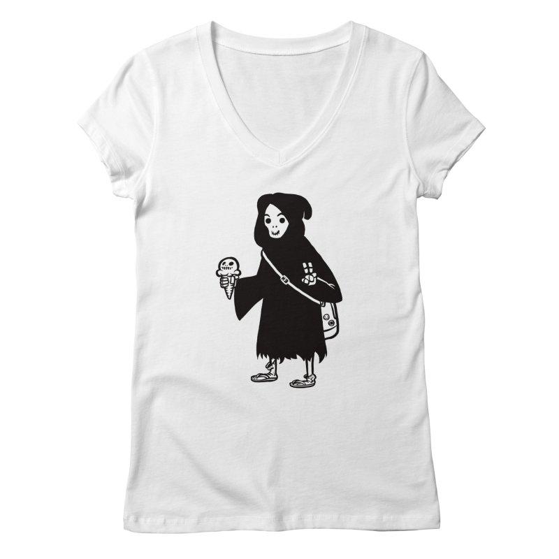 Chill Reaper Women's V-Neck by Shop TerryMakesStuff