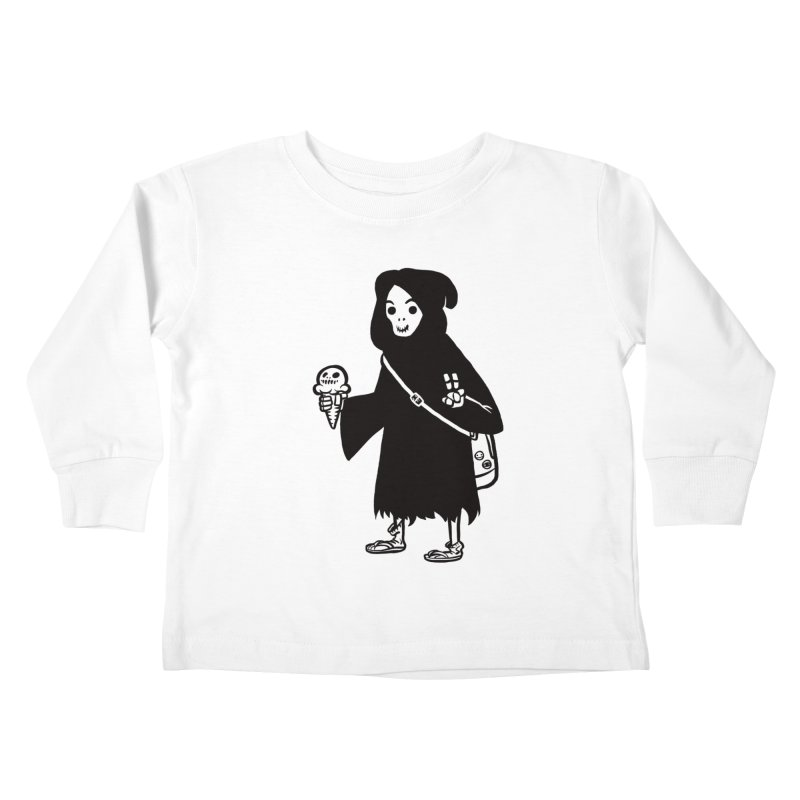 Chill Reaper Kids Toddler Longsleeve T-Shirt by Shop TerryMakesStuff