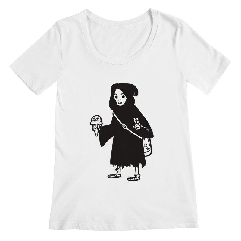 Chill Reaper Women's Scoopneck by Shop TerryMakesStuff