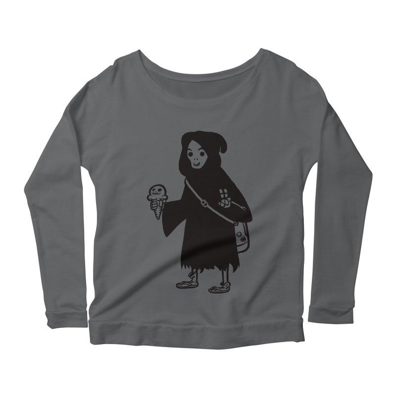 Chill Reaper Women's Longsleeve Scoopneck  by Shop TerryMakesStuff