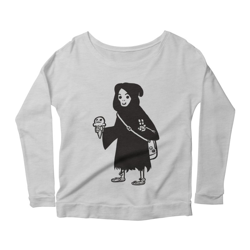 Chill Reaper Women's Scoop Neck Longsleeve T-Shirt by Shop TerryMakesStuff