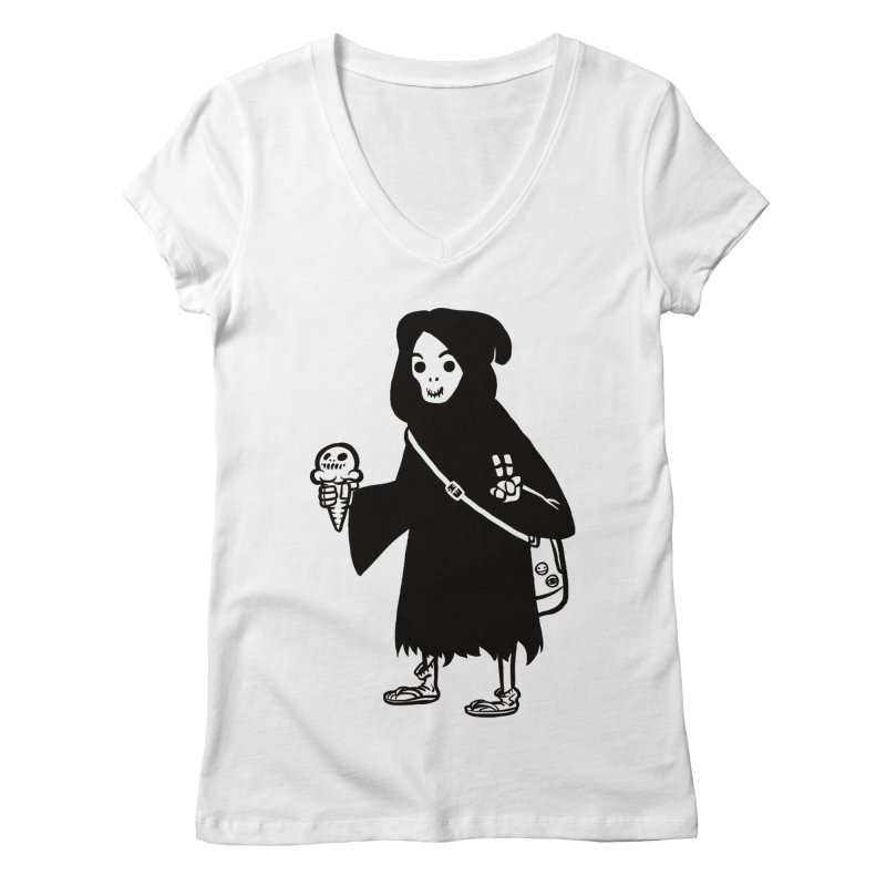 Chill Reaper Women's V-Neck by Shop TerryMakesStuff