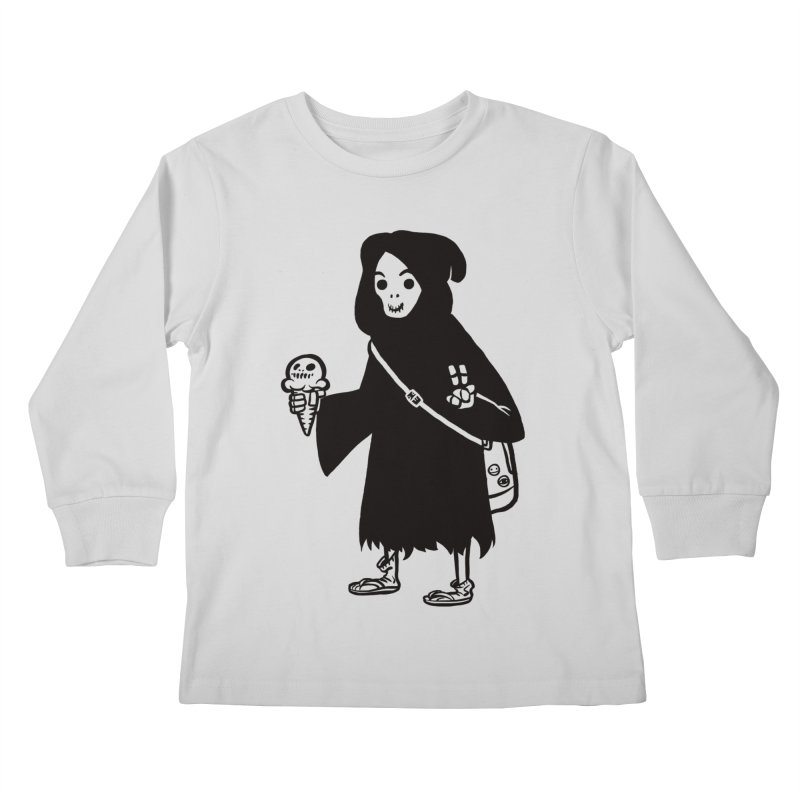 Chill Reaper Kids Longsleeve T-Shirt by Shop TerryMakesStuff