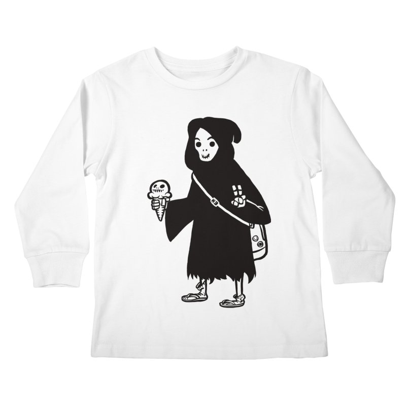 Chill Reaper Kids Longsleeve T-Shirt by Shop TerryMakesStuff