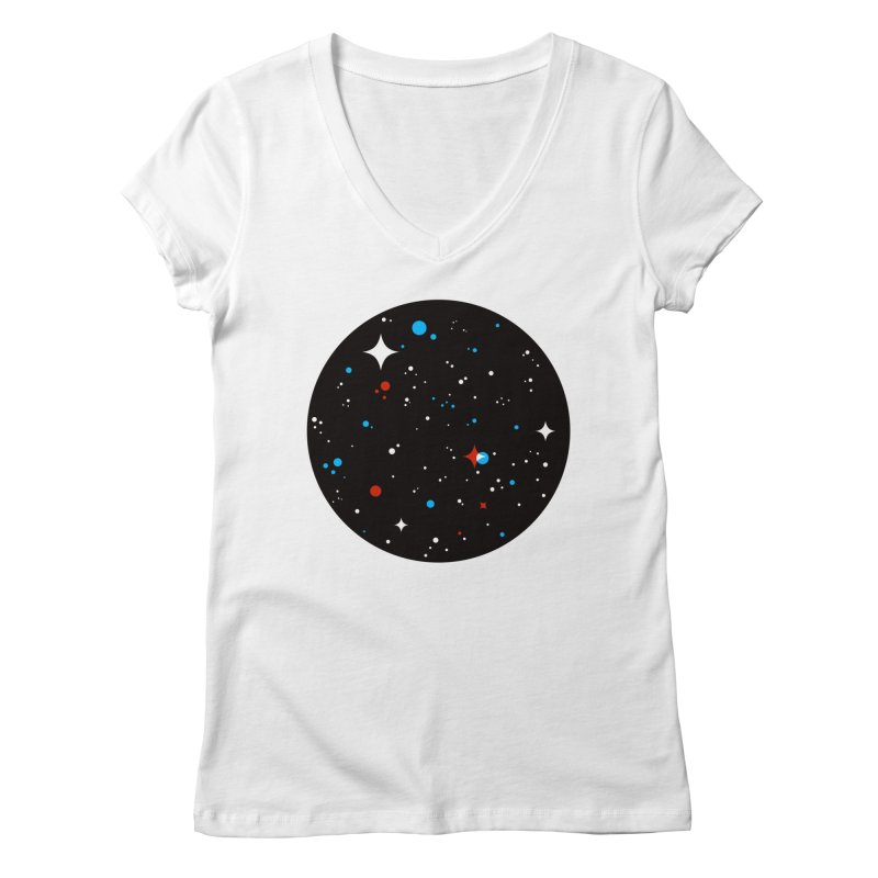 UNIVERSE Women's V-Neck by Shop TerryMakesStuff
