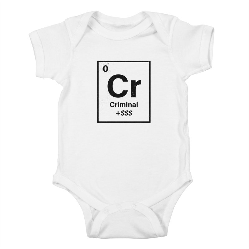 The Criminal Element Kids Baby Bodysuit by Shop TerryMakesStuff