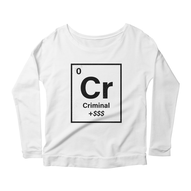 The Criminal Element Women's Scoop Neck Longsleeve T-Shirt by Shop TerryMakesStuff