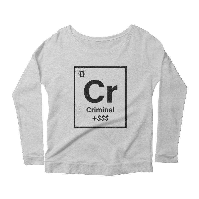 The Criminal Element Women's Scoop Neck Longsleeve T-Shirt by Shop TerryMakesStuff
