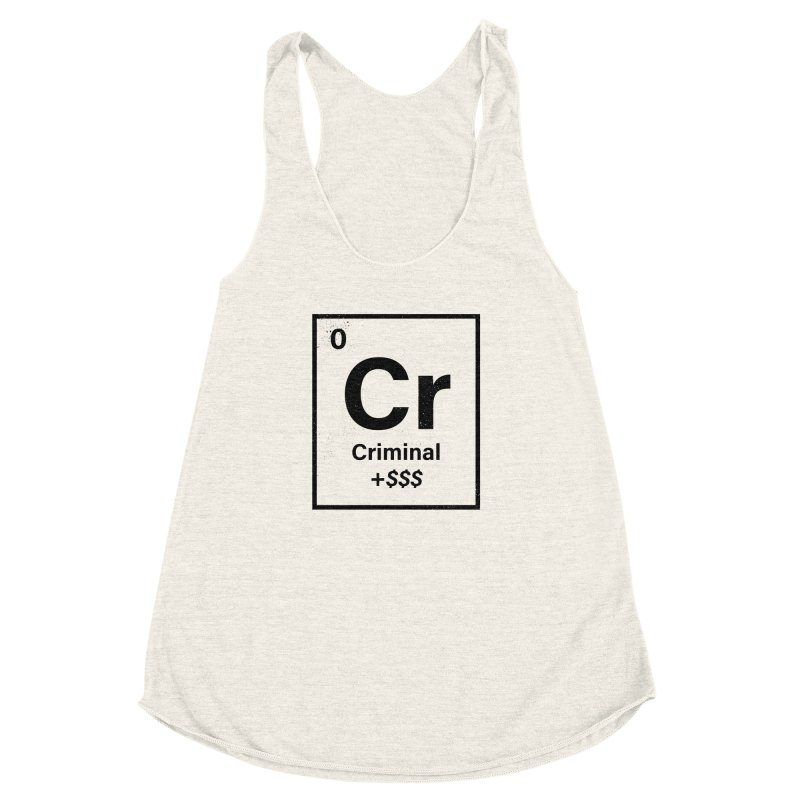 The Criminal Element Women's Racerback Triblend Tank by Shop TerryMakesStuff