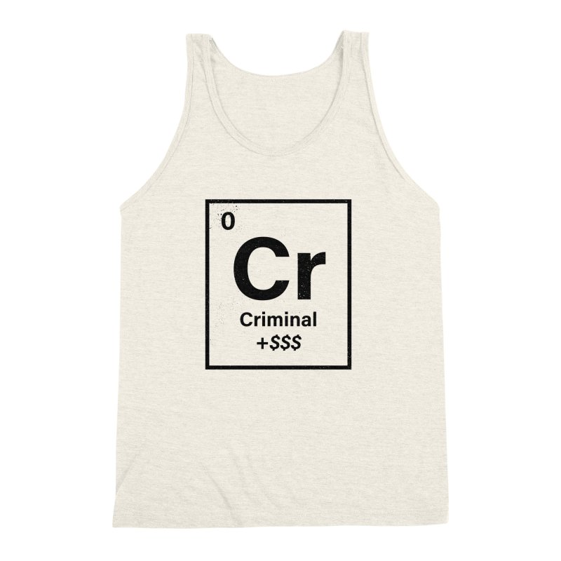 The Criminal Element Men's Triblend Tank by Shop TerryMakesStuff