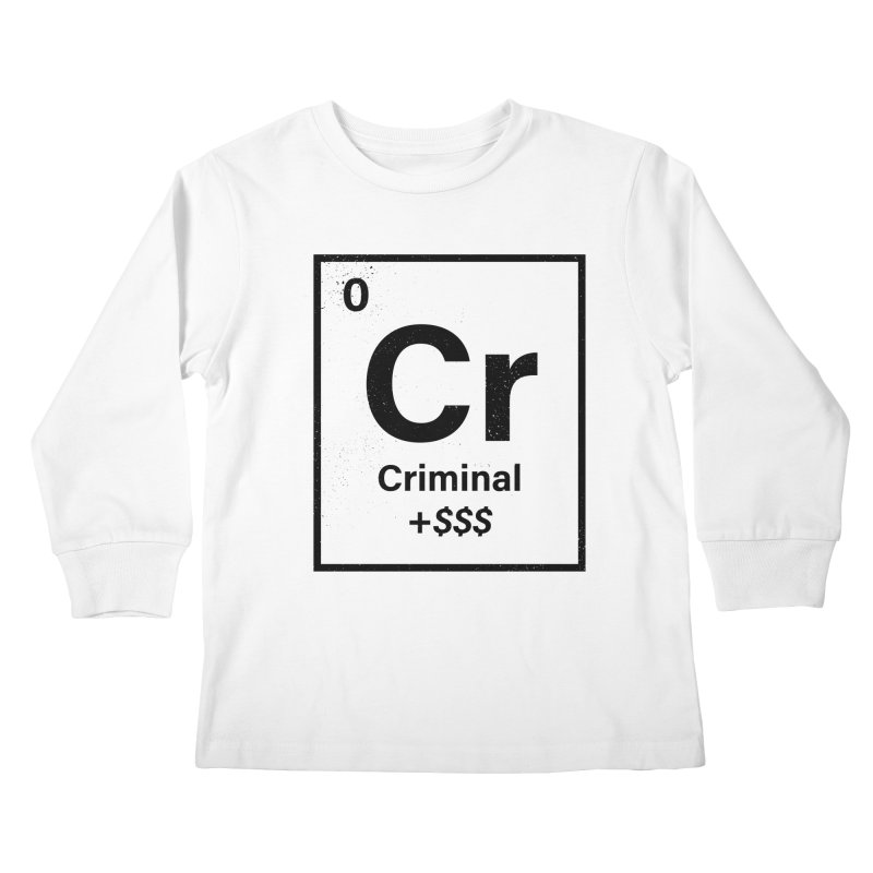The Criminal Element Kids Longsleeve T-Shirt by Shop TerryMakesStuff