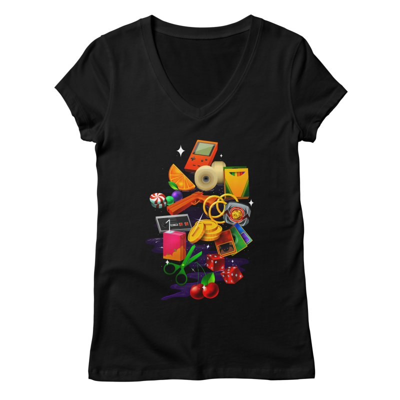 Born 88 Women's V-Neck by Shop TerryMakesStuff