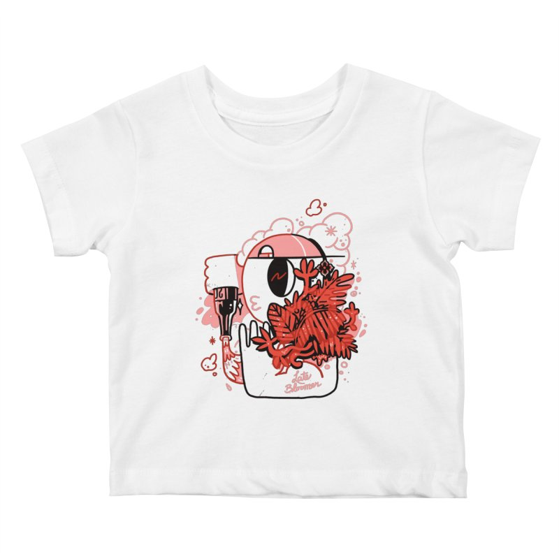 Late Bloomer Kids Baby T-Shirt by Shop TerryMakesStuff