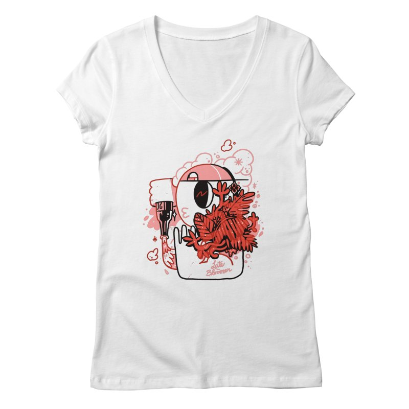 Late Bloomer Women's V-Neck by Shop TerryMakesStuff
