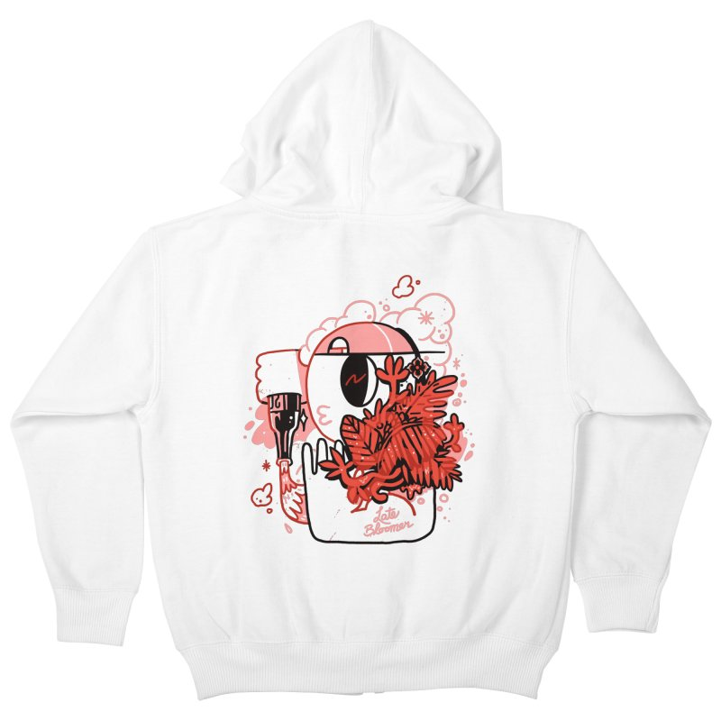 Late Bloomer Kids Zip-Up Hoody by Shop TerryMakesStuff