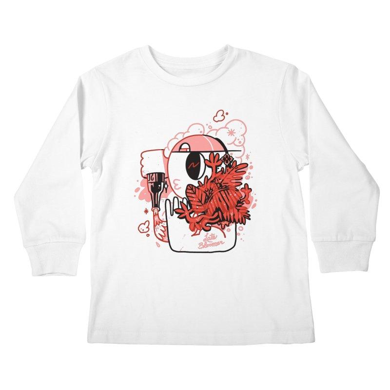 Late Bloomer Kids Longsleeve T-Shirt by Shop TerryMakesStuff
