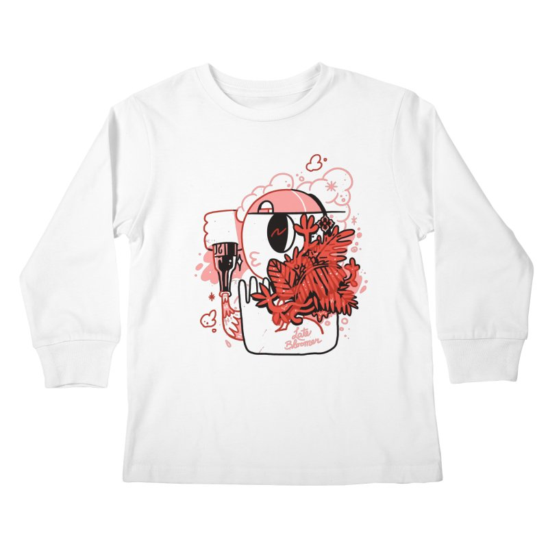 Late Bloomer Kids Longsleeve T-Shirt by Shop TerryMakesStuff