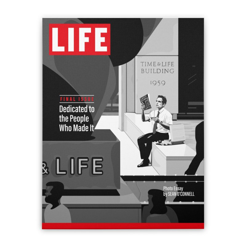 Walter Mitty Life Magazine Cover Home Stretched Canvas by Tersieff's Artist Shop