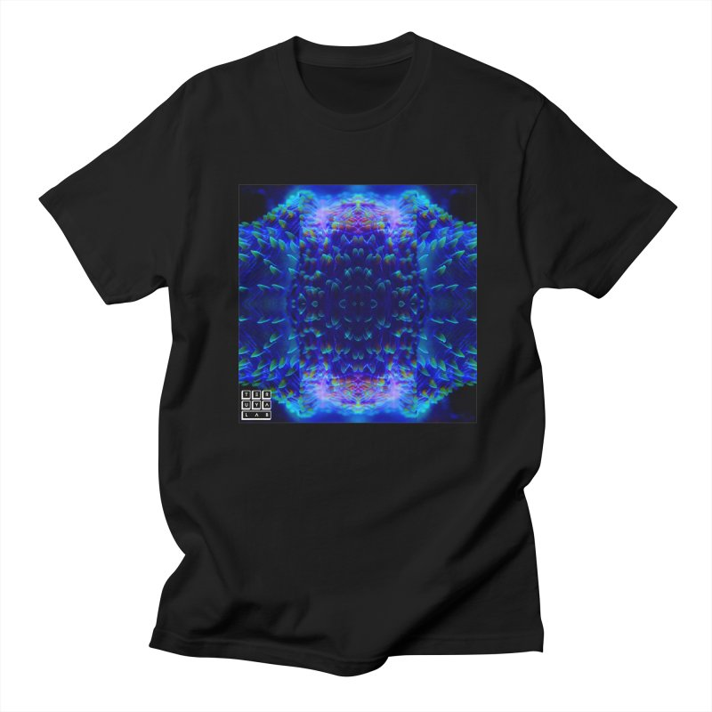 Purple Plate in Men's T-Shirt Black by TERUYA LAB