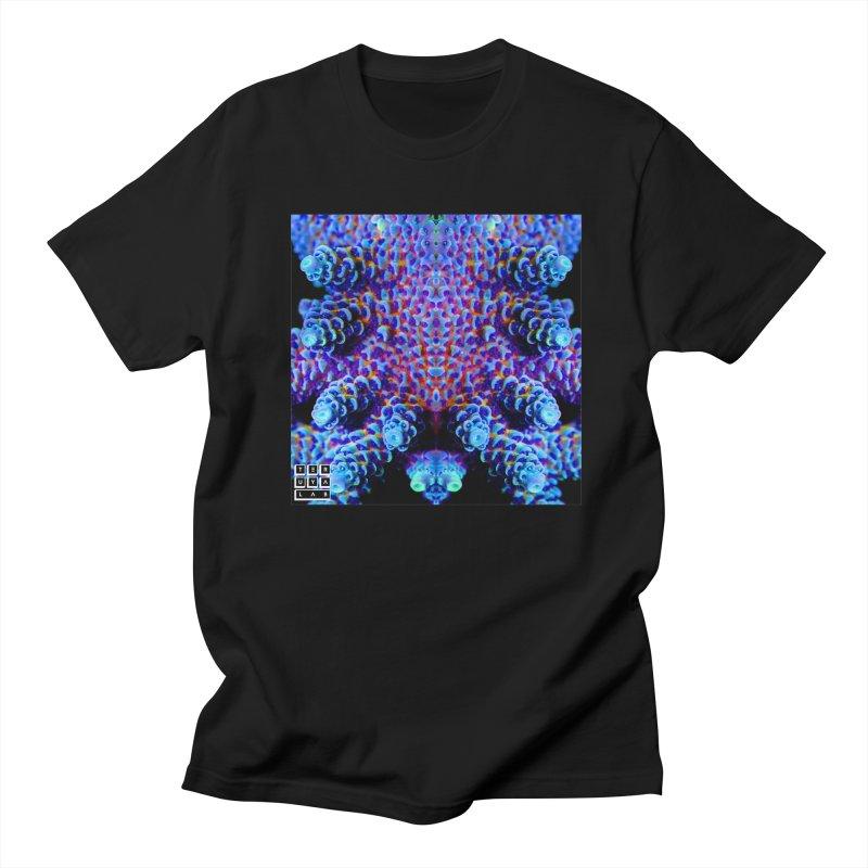 Aussie Acropora in Men's Regular T-Shirt Black by TERUYA LAB