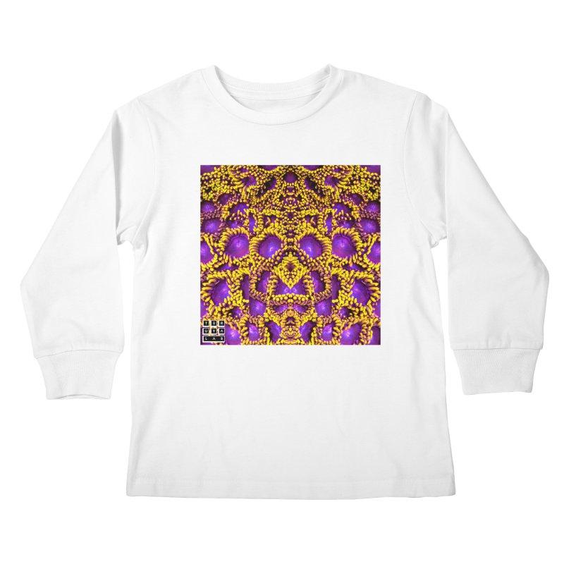 Zoophagous Zoanthids Kids Longsleeve T-Shirt by TERUYA LAB