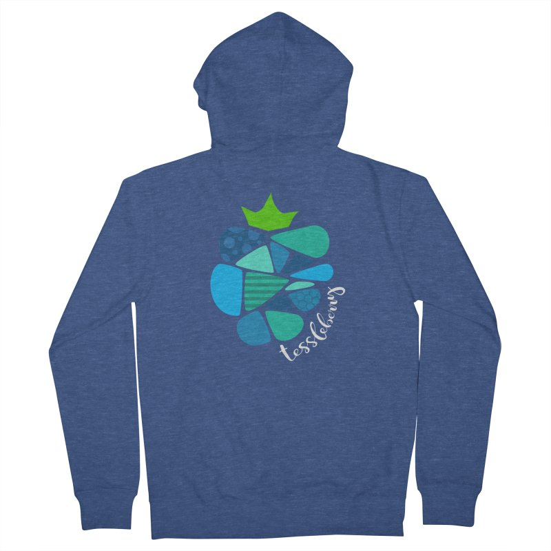 hi i'm a tessleberry tshirt with white letters Women's Zip-Up Hoody by tessleberry's Artist Shop
