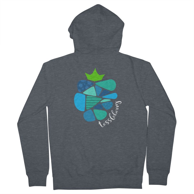 hi i'm a tessleberry tshirt with white letters Men's Zip-Up Hoody by tessleberry's Artist Shop
