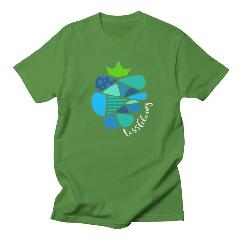 hi i'm a tessleberry tshirt with white letters Men's T-shirt by tessleberry's Artist Shop