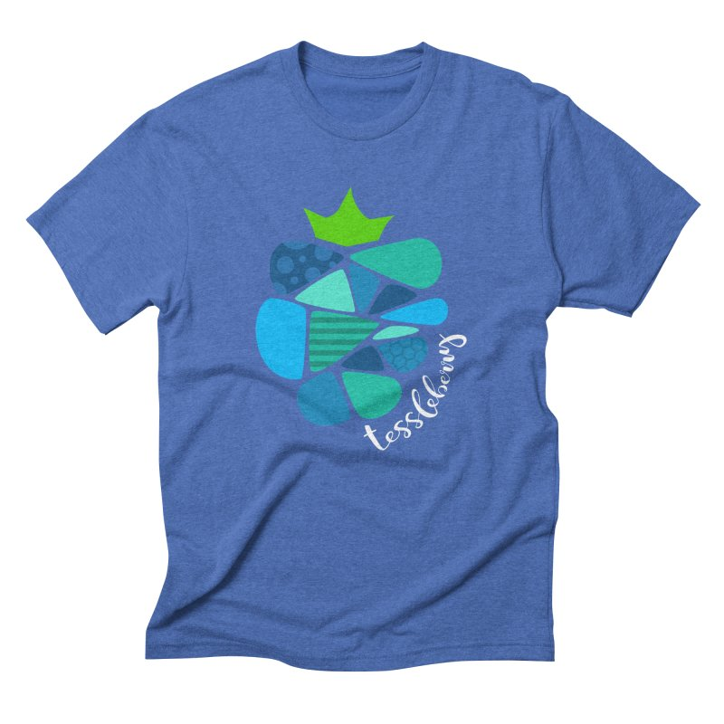 hi i'm a tessleberry tshirt with white letters Men's Triblend T-shirt by tessleberry's Artist Shop