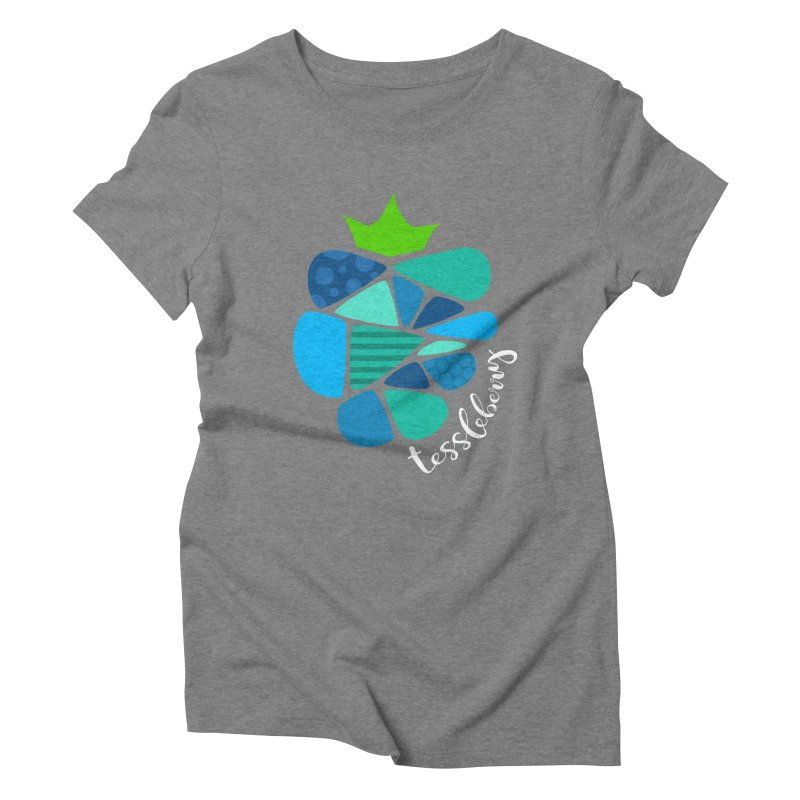 hi i'm a tessleberry tshirt with white letters Women's Triblend T-shirt by tessleberry's Artist Shop