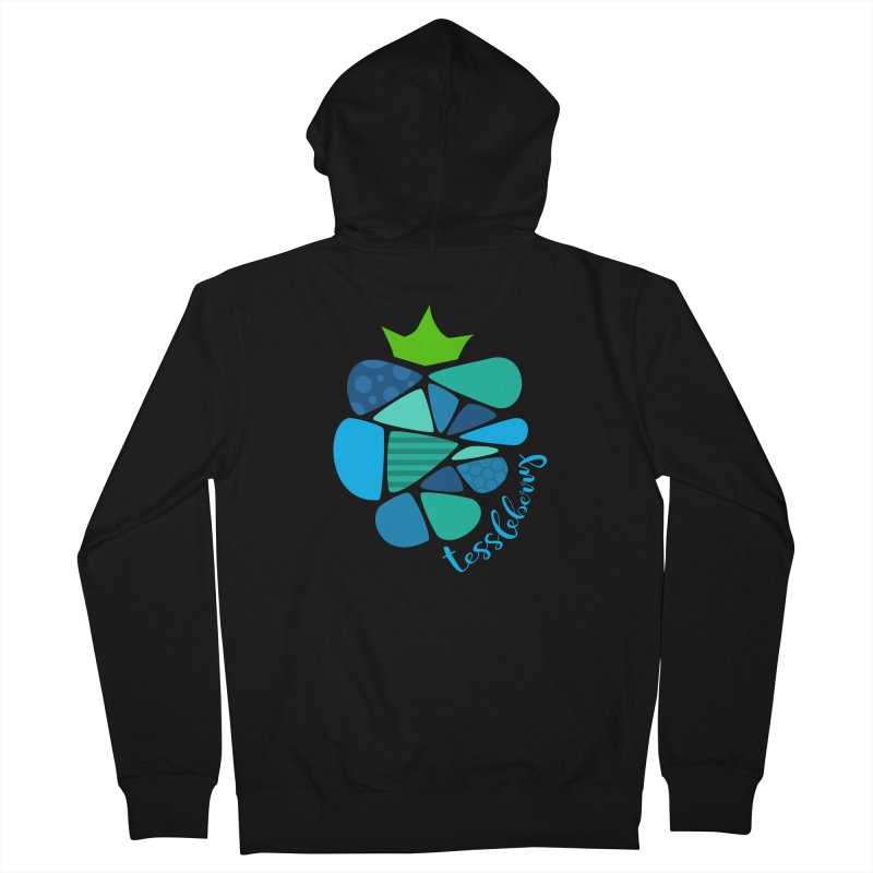 hi i'm a tessleberry tshirt with blue letters Women's Zip-Up Hoody by tessleberry's Artist Shop