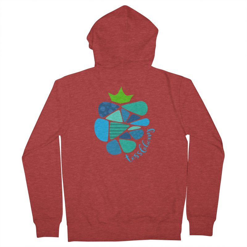 hi i'm a tessleberry tshirt with blue letters Men's Zip-Up Hoody by tessleberry's Artist Shop