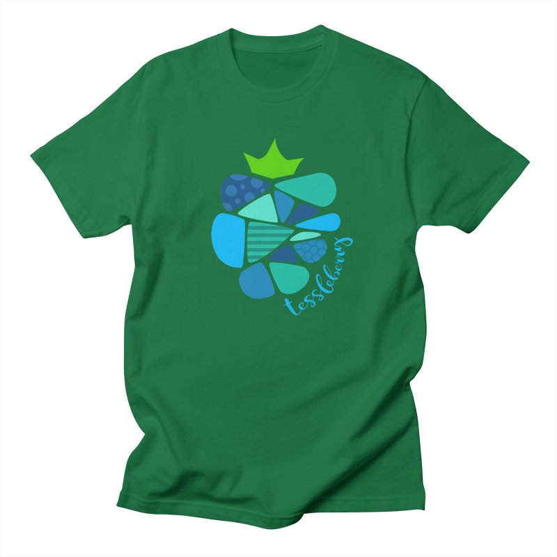 hi i'm a tessleberry tshirt with blue letters Men's T-Shirt by tessleberry's Artist Shop