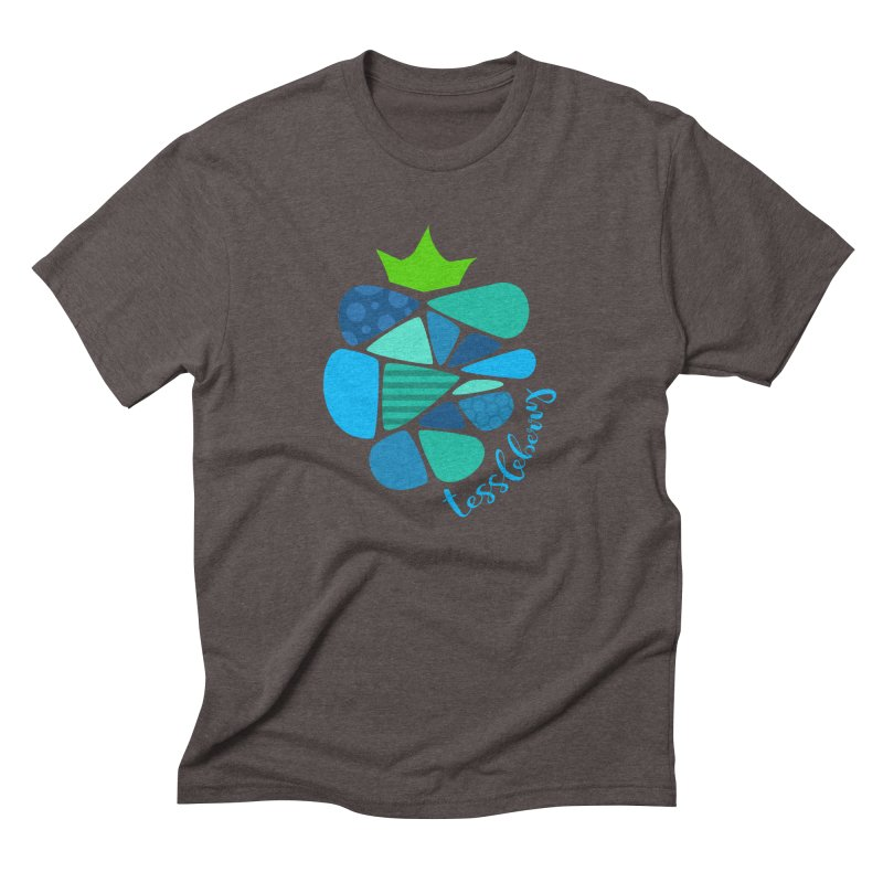 hi i'm a tessleberry tshirt with blue letters Men's Triblend T-Shirt by tessleberry's Artist Shop