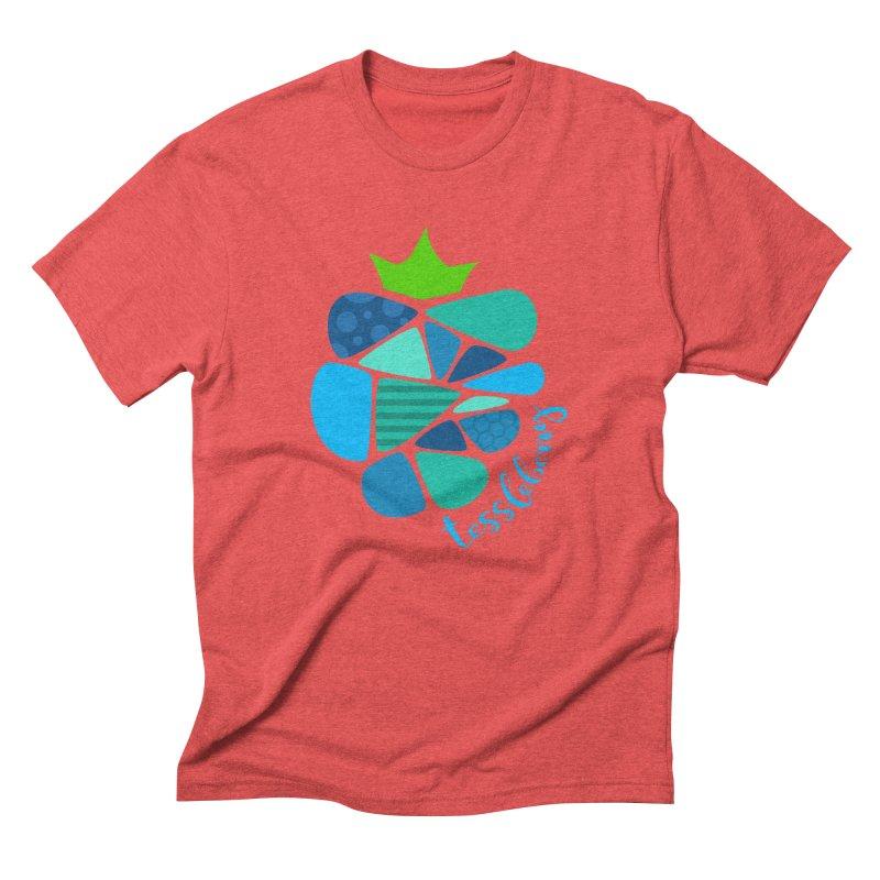hi i'm a tessleberry tshirt with blue letters Men's Triblend T-shirt by tessleberry's Artist Shop