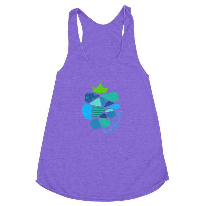 hi i'm a tessleberry tshirt with blue letters Women's Racerback Triblend Tank by tessleberry's Artist Shop