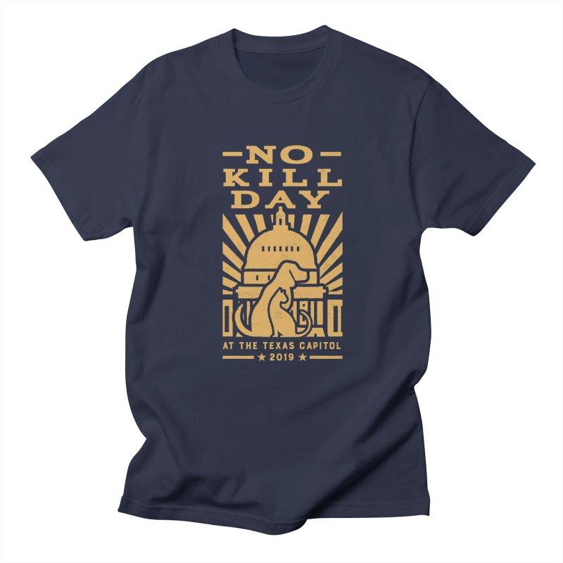 Texas No Kill Day 2019 Men's T - Navy in Men's Regular T-Shirt Navy by Texas Pets Alive